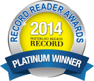 Record Reading Awards Platinum Winner 2015